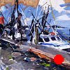 "'Fishing Boats. Beaufort, NC' 12""x14"" Oil on wood."