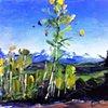 "Southwest Art Magazine Sweepstakes.  To WIN this painting go to: www.southwestart.com   'Telluride. Colorado' 8.5""x11"" Oil on wood"