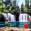 "'Hanging Lake, Glenwood Canyon. Colorado' 36""x48"" Oil on wood."