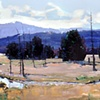 "'Rocky Mountain National Park' Colorado. 30""x40"" Oil on wood"