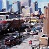 "'Logan & Colfax. Denver City'  8""x10"" Oil on wood"
