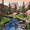 "'Dream Lake. RMNP. CO'  48""x36"" Oil on wood"