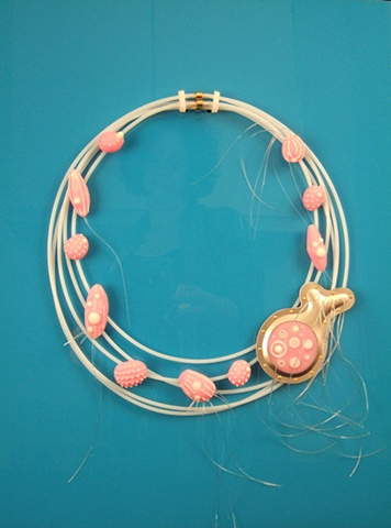 "Microbe Series: Rotifer ""Alice"" Necklace with Brooch"