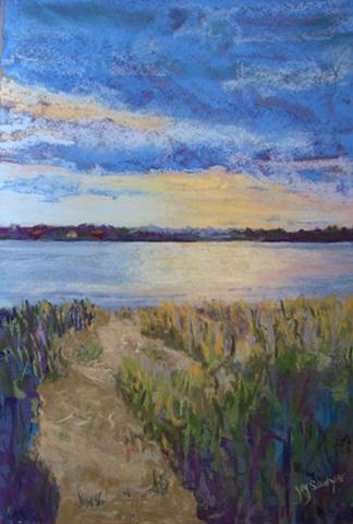 Back River, Duxbury MA, summer sunset
