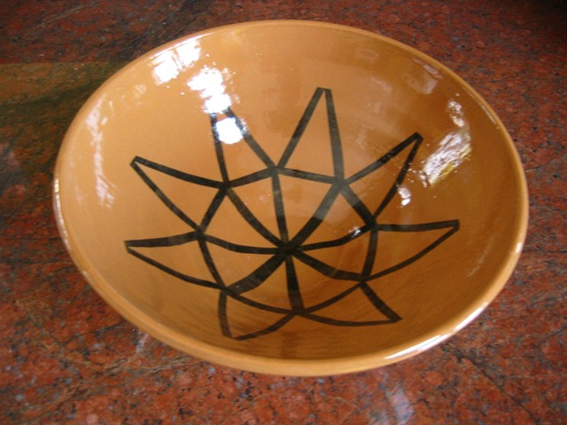 BOWL WITH GEOMETRIC PATTERNS