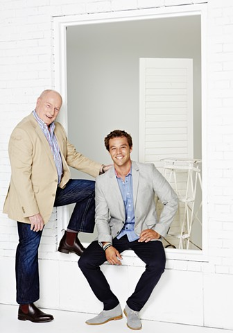 TV Week - Home and Away 25 Year Reunion: Ray Meagher and Lincoln Lewis