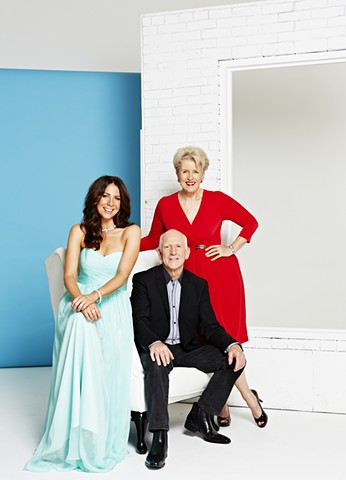 TV Week - Home and Away 25 Years reunion: Kate Ritchie, Dennis Coard and Debra Lawrance