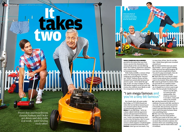 "TV Week - Ian ""Dicko"" Dickson and Nathan Joliffe: The Celebrity Apprentice Australia 2012"