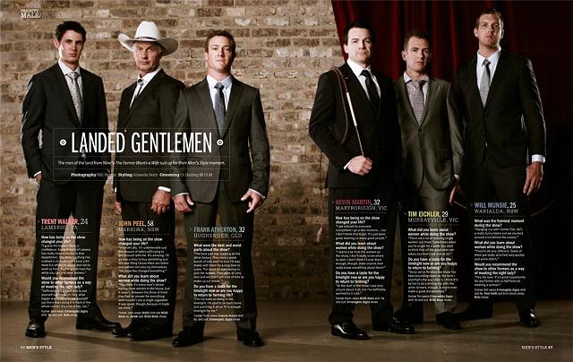 Men's Style Australia - The Farmer Wants a Wife 2011
