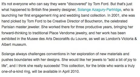 The Bride's Guide Blog: Martha Stewart Weddings  Solange Azagury-Partridge February 2010