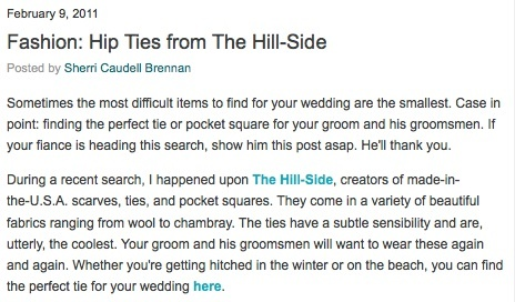 The Bride's Guide Blog: Martha Stewart Weddings  The Hill-Side February 2011