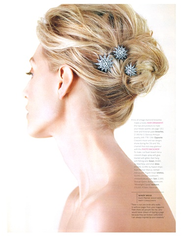 Martha Stewart Weddings  Winter 2009  Photograph by Con Poulos