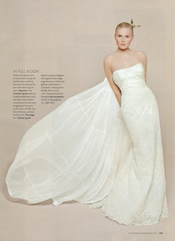 Martha Stewart Weddings  Spring 2009   Photograph by Brigitte Neidermair