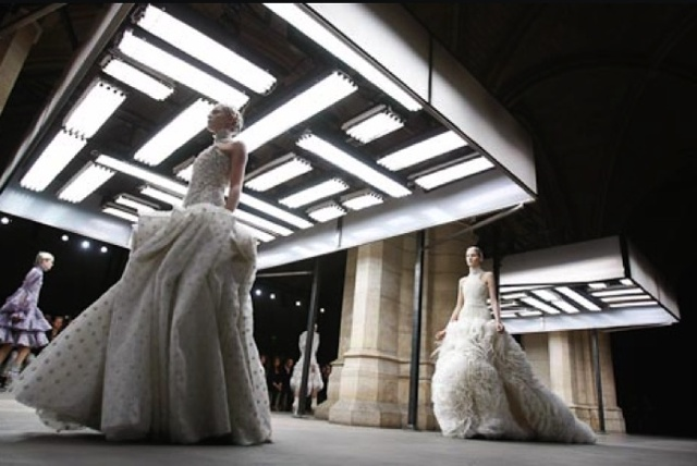 The Bride's Guide Blog: Martha Stewart Weddings  Alexander McQueen March 2011  Image courtesy of Style.com