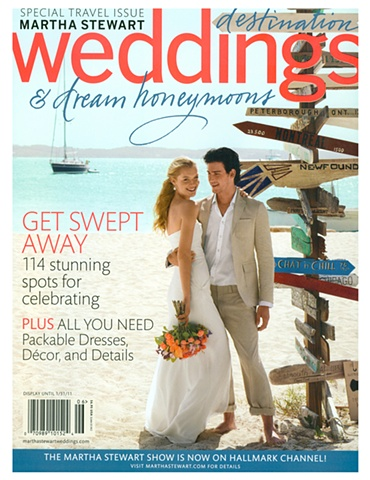 Martha Stewart Weddings  Destination Issue 2010