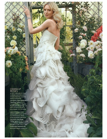 Martha Stewart Weddings  Spring 2011  Photograph by Bruno Ripoche