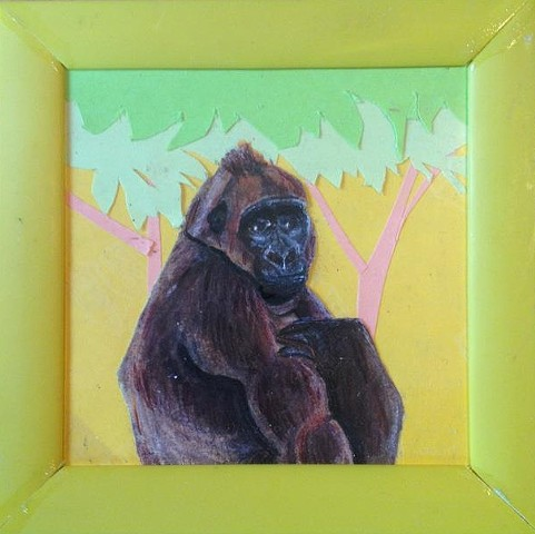Gorilla in the trees