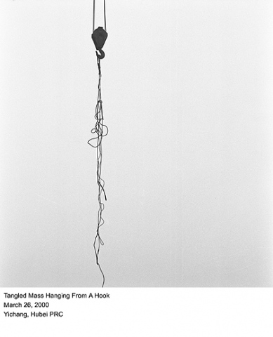 Tangled Mass Hanging From A Hook