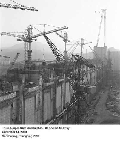 Three Gorges Dam Construction - Behind the Spillway