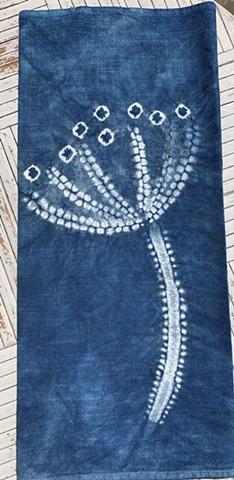 Hand-dyed Heavy Cotton, XL Tea Towel-Hogweed