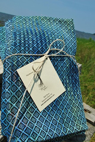 Hand Painted and Handwoven XL Cotton and Linen Napkins