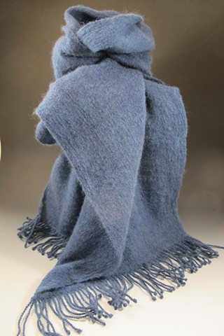 Superfine and super soft Merino Wool Scarf-Indigo Blue