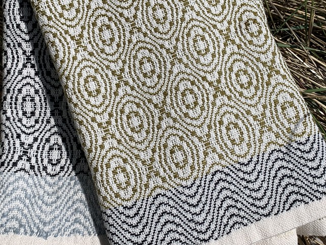 Handwoven Overshot Cotton & Linen Towels (extra large)