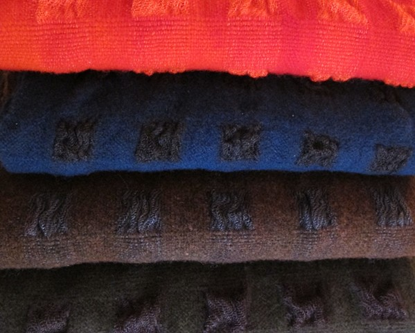 Handwoven wool & tencel scarfs