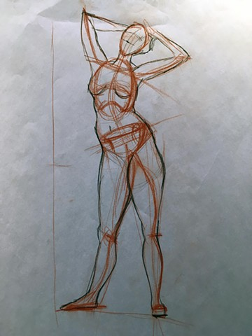 Figure Drawing; Sustained Gesture