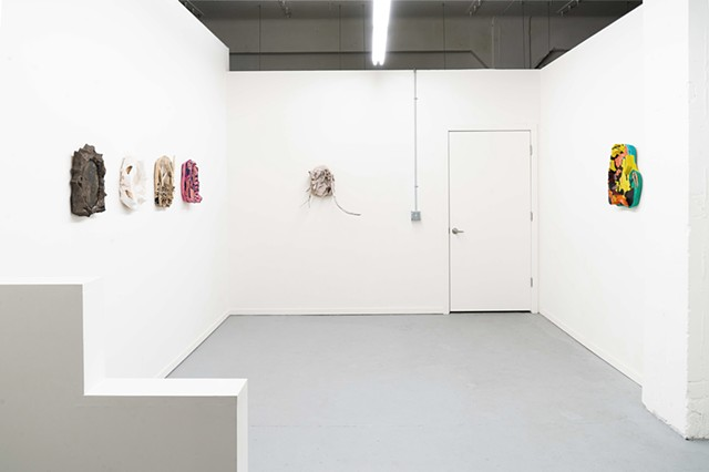 """Open when you forget"" installation view"
