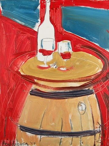 Healdsburg painting wine trail barrel art