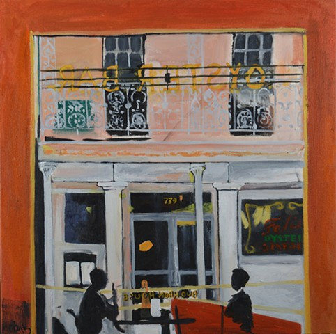 Bourbon House New Orleans painting