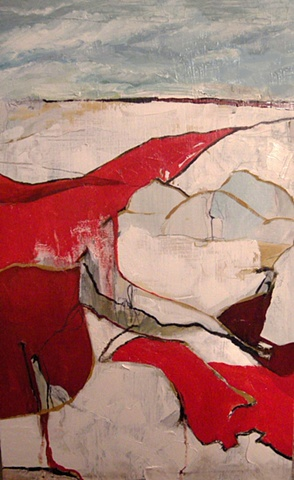 Reclining Nude with Red