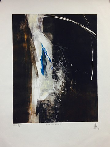 A series of 4 Monotypes
