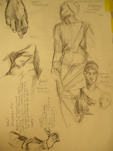 Studies from Academia, FLorence, Italy