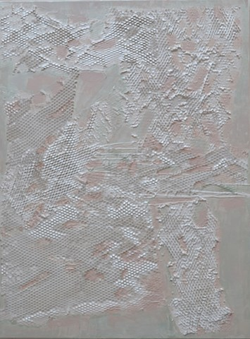 Pure Texture, mixed media, abstract, white, pastels