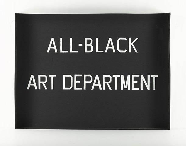 another view of all black art department