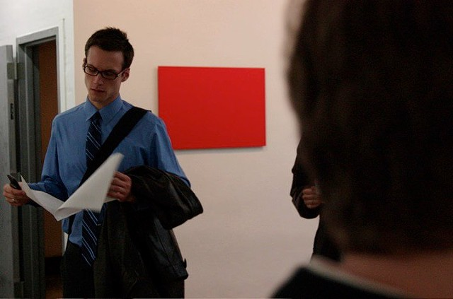 "Installation view of ""Film Still from Orange"""