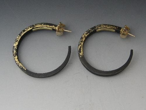"""Large Dust Hoop Earrings"""