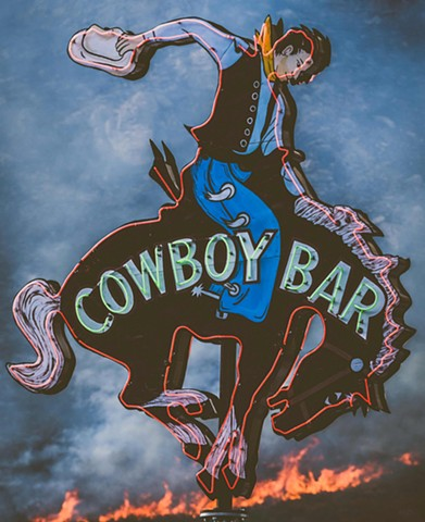 """Cowboy on Fire"""