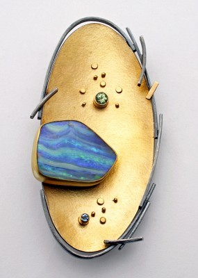 """Striped Opal Pin"""