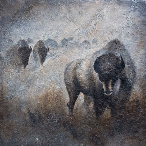 """Lone Stone Bison"""