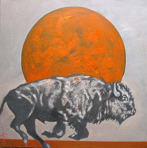 """Red Earth Moon Buffalo"""