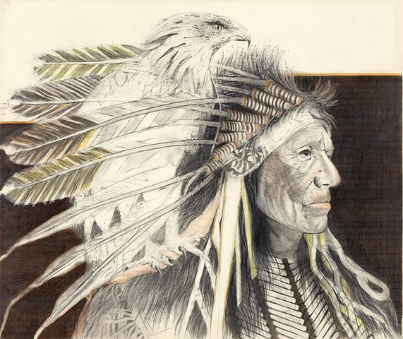 """Chief With Eagle"""