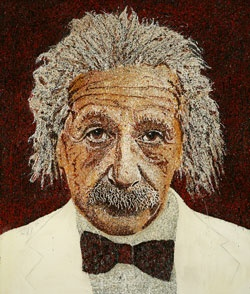 """Einstein in Red"""