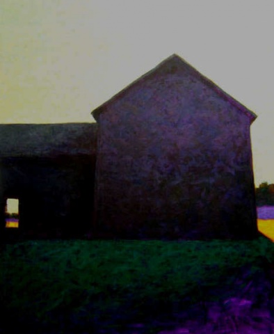 """Gray Barn, Green Sky"""