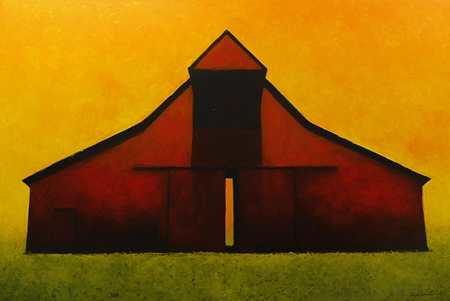 """Uly's Barn, Orange Sky"""