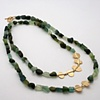 """Tumbled Tourmaline Necklace"""