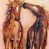 """Two Painted Horses"""