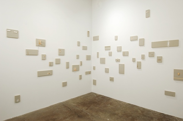 Installation of 75+ room drawings at Frederieke Taylor Gallery